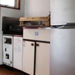 堀之内ハイツ キッチンとレンタル家具の2ドア冷蔵庫
